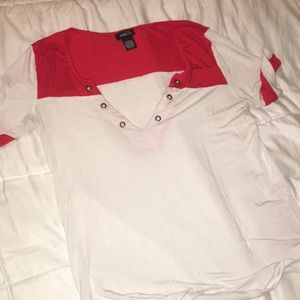 Cute red and white shirt
